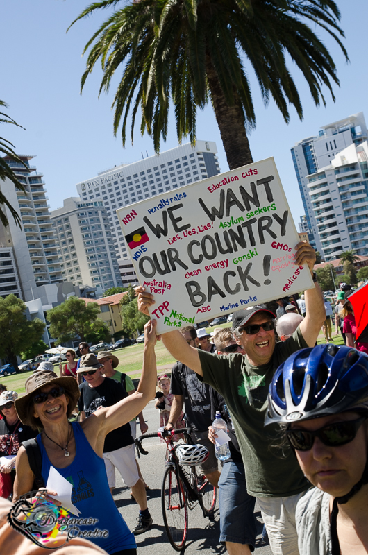 We Want Our Country Back - March in March Perth