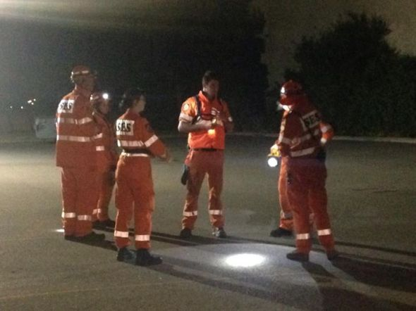 "Stirling SES, prepping to search another sector. Image taken from ""9 News Perth"" Facebook page"