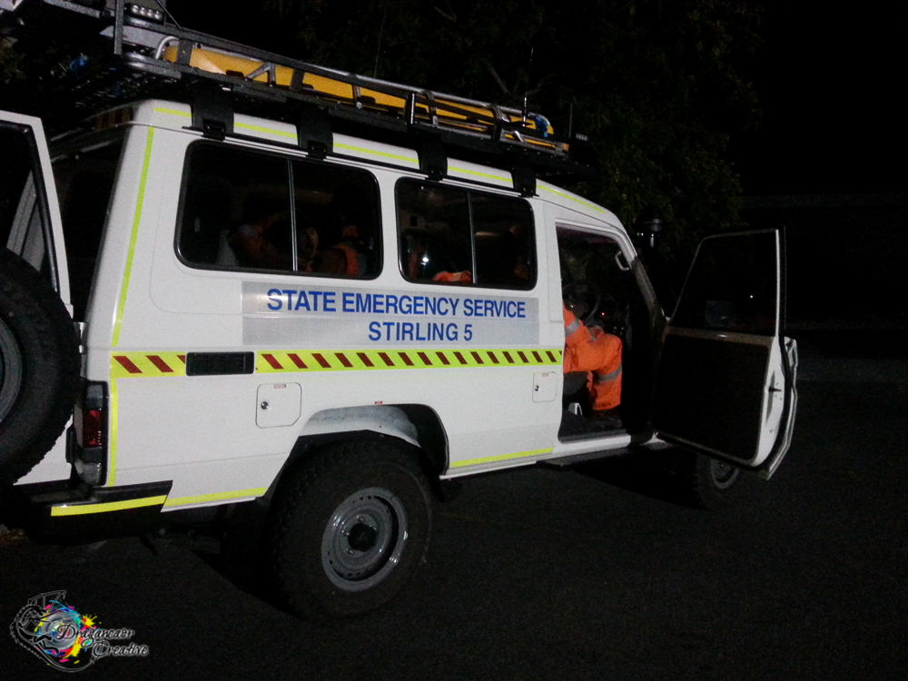 Stirling SES Troopy, parked up & preparing to search another sector