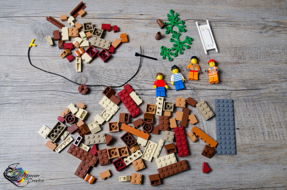 lego pieces for cliff rescue