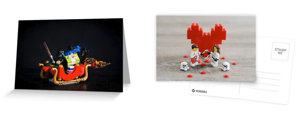 lego greeting card romance geek